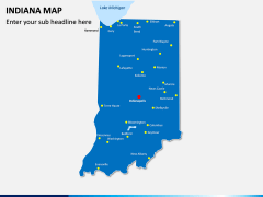 Indiana Map PPT Slide 2