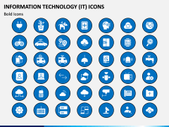 Information Technology (IT) Icons PPT Slide 8