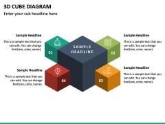 3D Cube Diagram PPT Slide 4