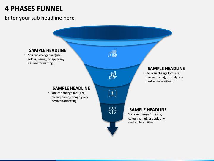 4 Phases Funnel Slide 1