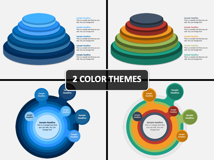 Layered Circle PPT Cover Slide
