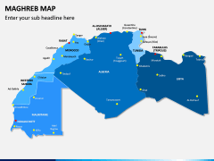 Maghreb Map PPT Slide 1
