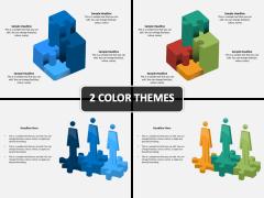 3D Puzzle Shapes PPT Cover Slide