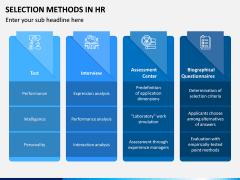 Selection Methods in HR PPT Slide 3