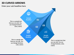 3D Curved Arrows PPT Slide 10