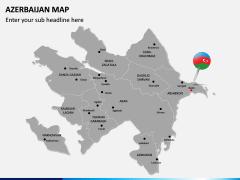 Azerbaijan Map PPT Slide 2