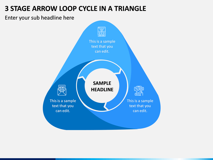 3 Stage Arrow Loop Cycle In A Triangle PPT Slide 1