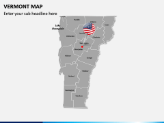 Vermont Map PPT Slide 3