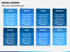 Weekly Agenda PPT Slide 2