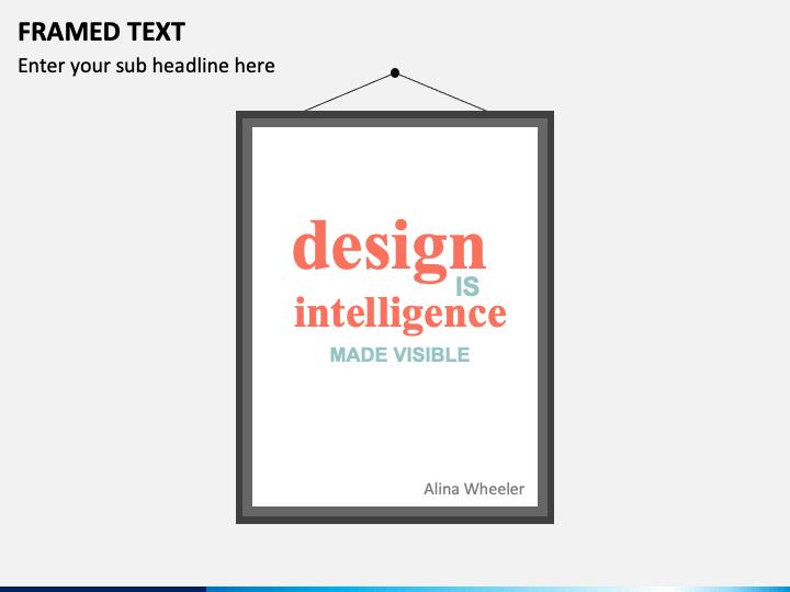 Framed Text PPT Slide 1