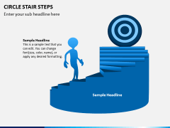 Circle Stair Steps PPT Slide 4
