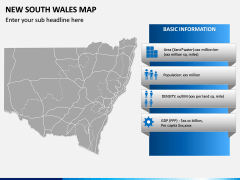New South Wales Map PPT Slide 3