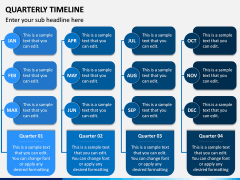 Quarterly Timeline PPT Slide 4