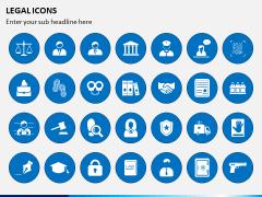 Legal Icons PPT Slide 1