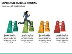 Challenges Hurdles Timeline PPT Slide 5