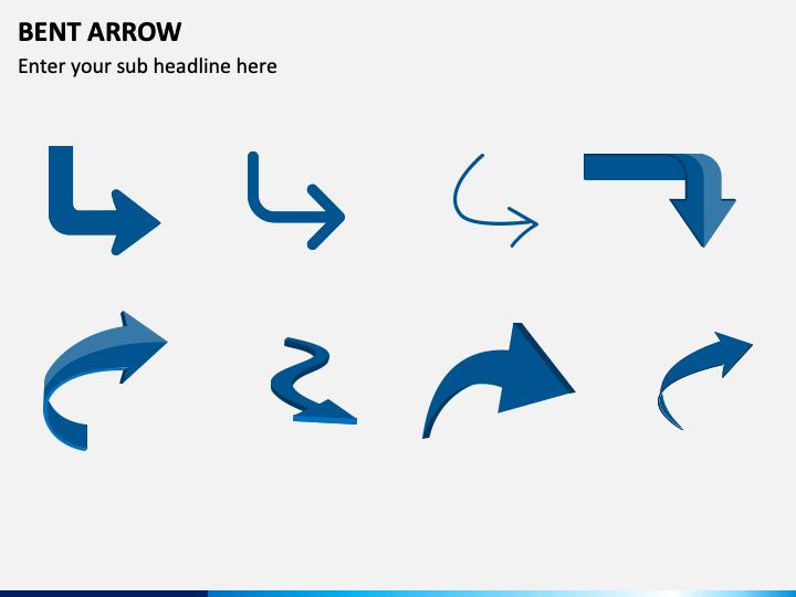Bent Arrow PPT Slide 1