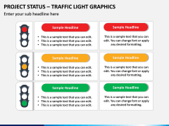 Project Status - Traffic Light Graphics PPT Slide