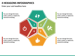 4 Hexagons Infographics PPT Slide 2