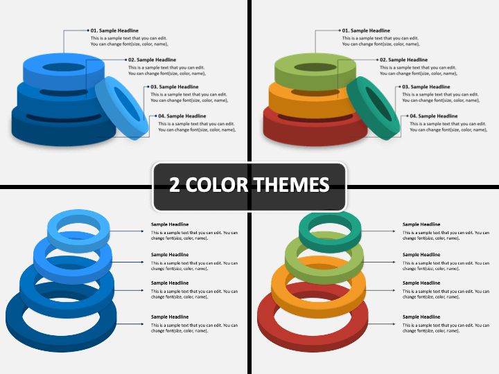 3D Rings PPT Cover Slide