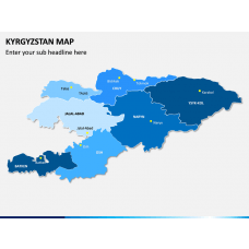 Kyrgyzstan Map PPT Slide 1
