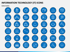 Information Technology (IT) Icons PPT Slide 2