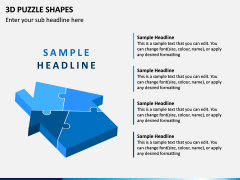 3D Puzzle Shapes PPT Slide 6