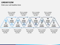 Linear Flow Infographics PPT Slide 10