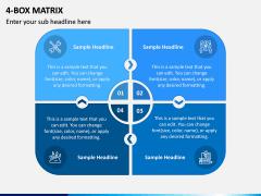 4 Box Matrix PPT Slide 2