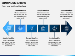 Continuum Arrow PPT Slide 1