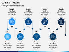 Curved Timeline PPT Slide 7