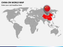 China on World Map PPT Slide 1