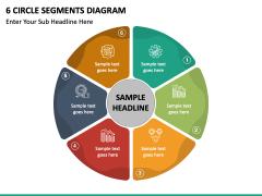 6 circle segments free PPT slide 2