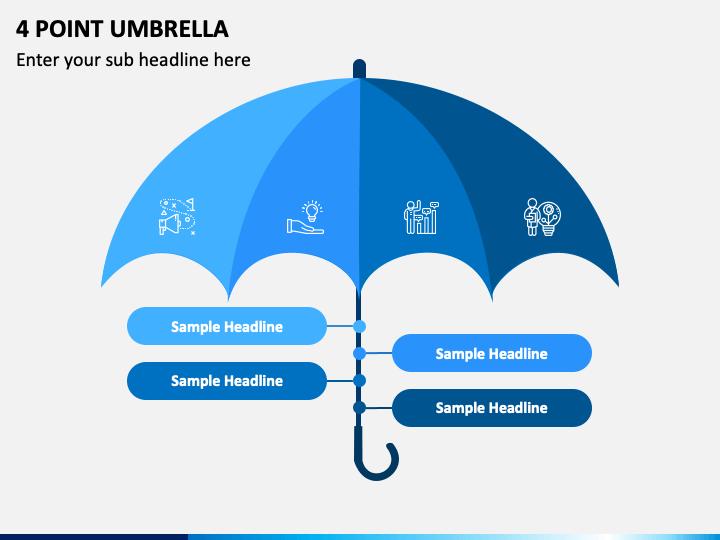 4 Point Umbrella PPT Slide 1