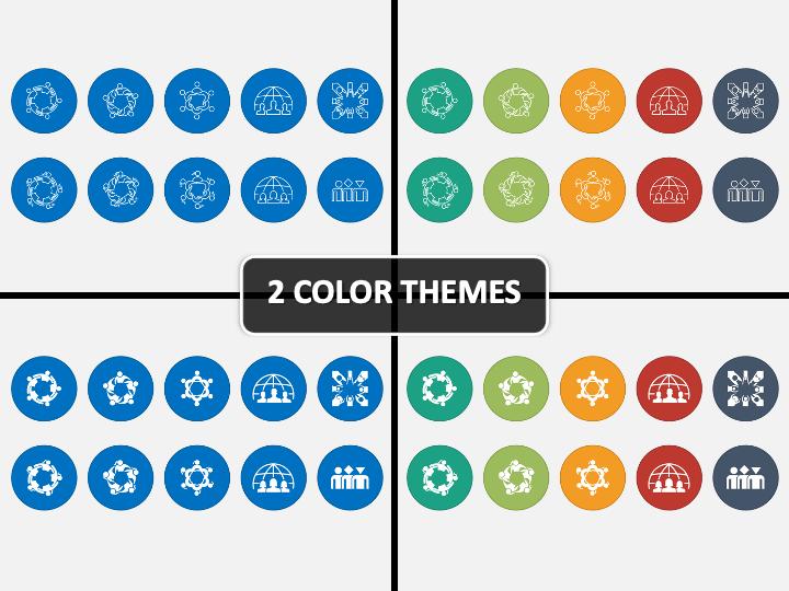 Diversity Icons PPT Cover Slide