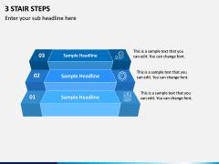 3 Stair Steps PPT Slide 1