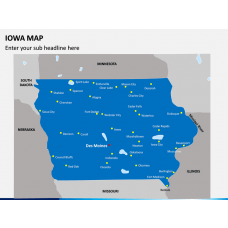 Iowa Map PPT Slide 1