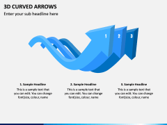 3D Curved Arrows PPT Slide 12