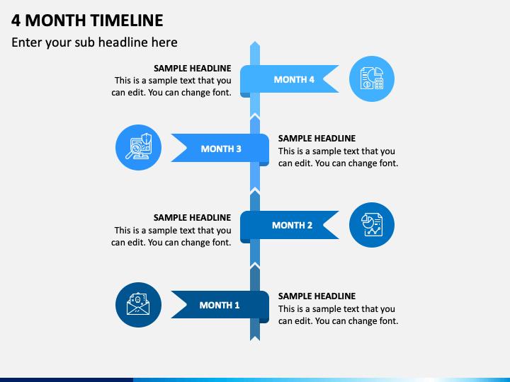 4 Month Timeline PPT Slide 1