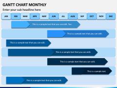 Gantt Chart Monthly PPT Slide 1