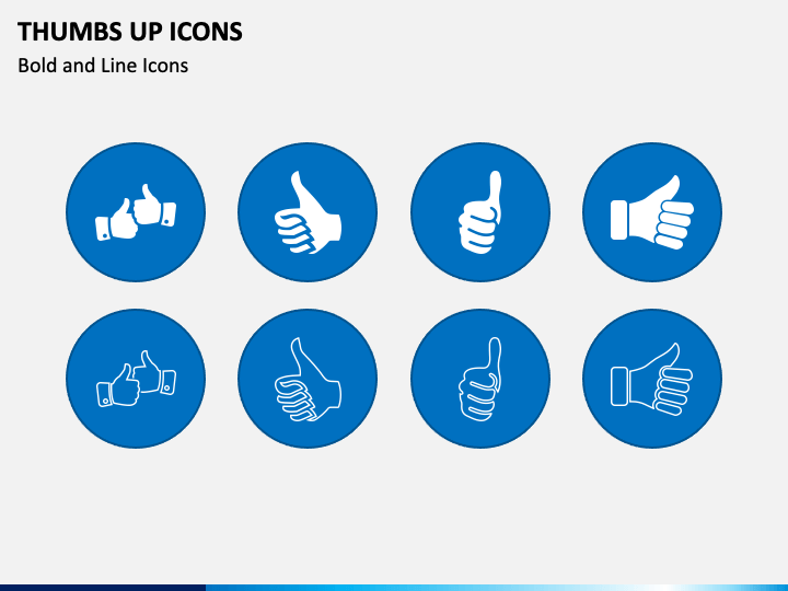 Thumbs Up Icons PPT Slide 1