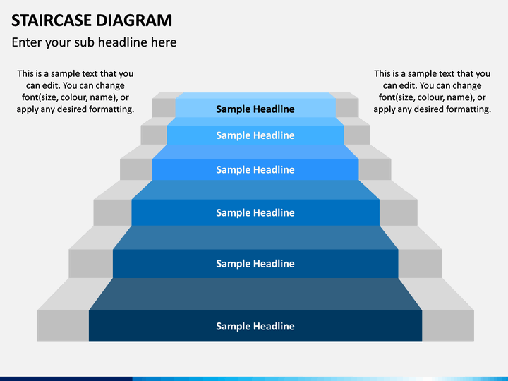 Staircase Diagram Powerpoint Template