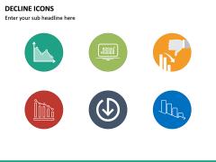 Decline Icons PPT Slide 4