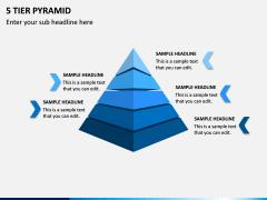 5 Tier Pyramid PPT Slide 1