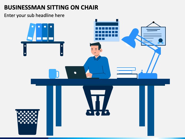 Businessman Sitting on Chair PPT Slide 1