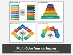 Digital Marketing KPIs PPT Multicolor Combined