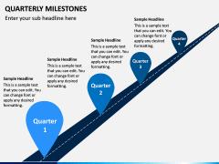 Quarterly Milestone PPT Slide 1