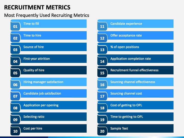 Recruitment Metrics PPT Slide 1