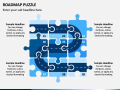 Roadmap Puzzle PPT Slide 1
