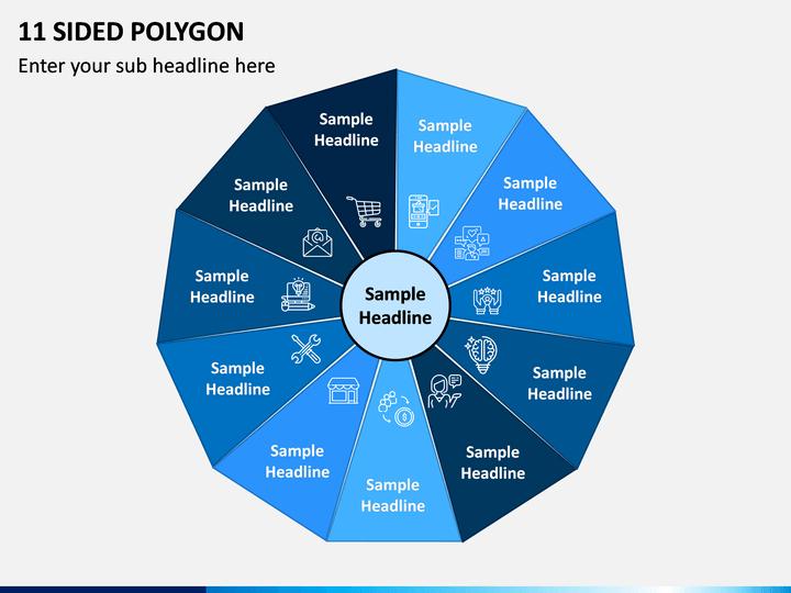 11 Sided Polygon PPT Slide 1