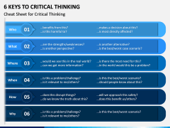 6 Keys to Critical Thinking PPT Slide 4